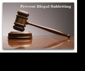 Preventing illegal sub-letting